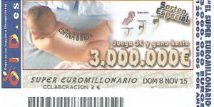 Cupón sorteo super euromillonario