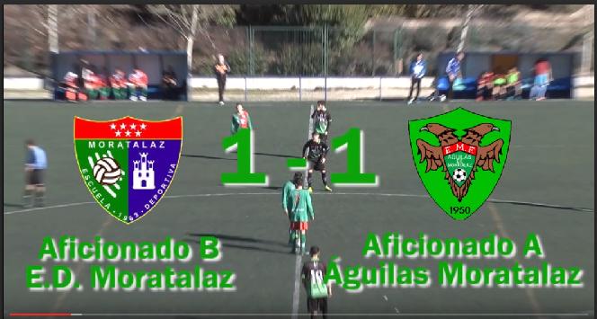 Videoreportaje del partido de liga EDM Aficionado B 1 – 1 Águilas Moratalaz A