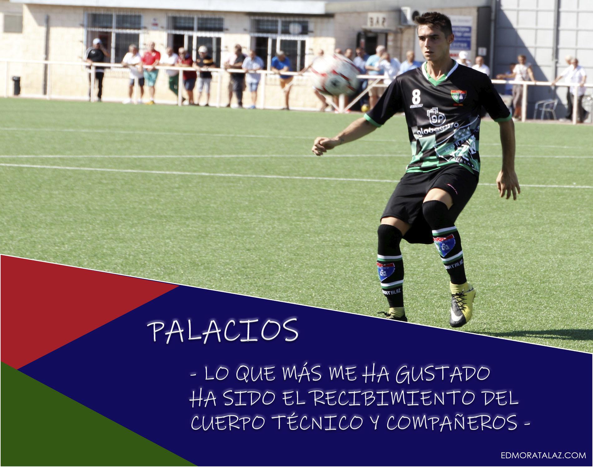 Palacios: «Lo que más me ha gustado ha sido el recibimiento del cuerpo técnico y compañeros»