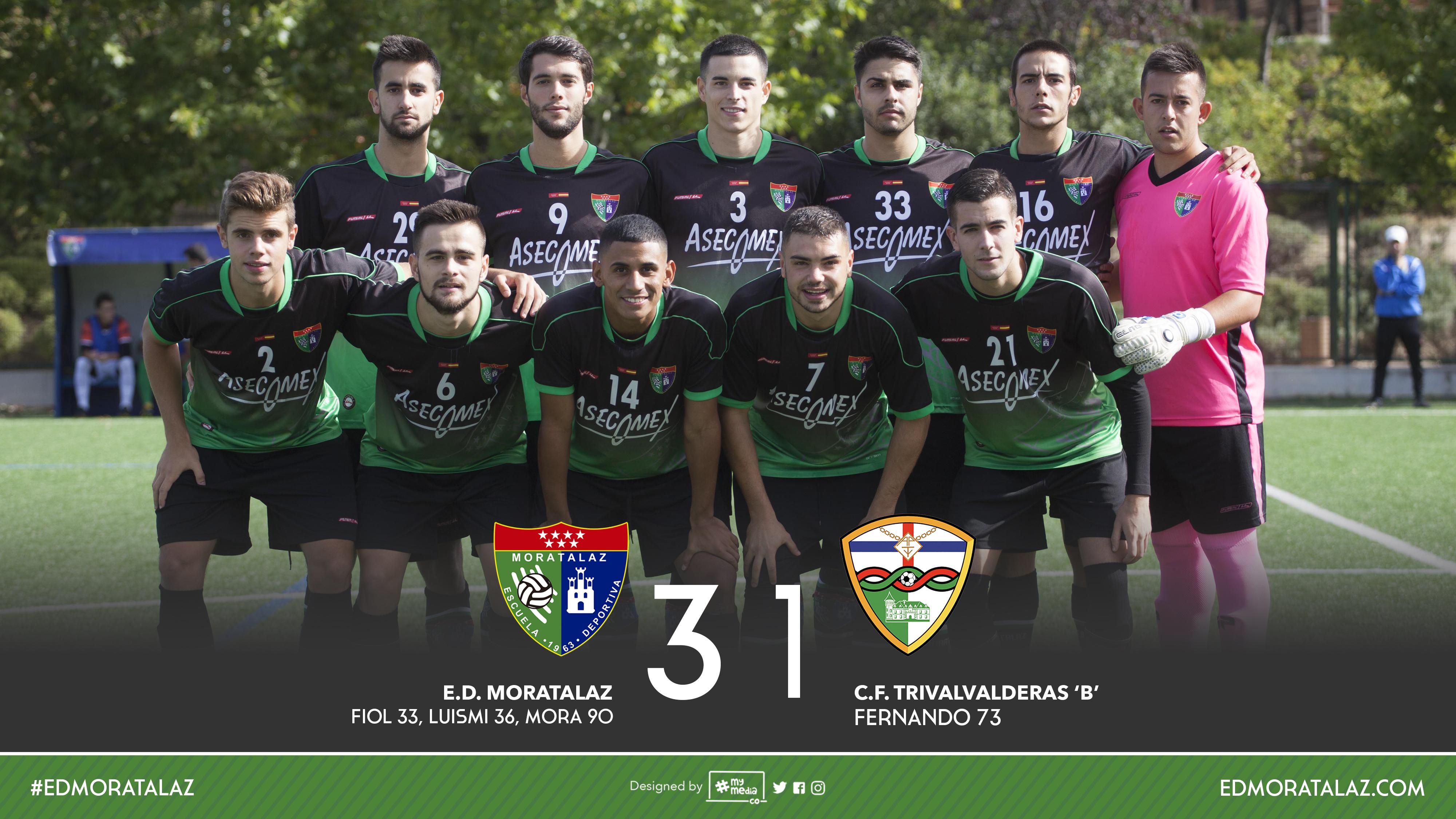 Crónica, fotos y vídeo resumen del partido Primer Equipo 3-1 CF Trival Valderas B