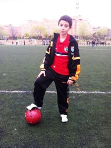 Yeray, juega en el Alevín A