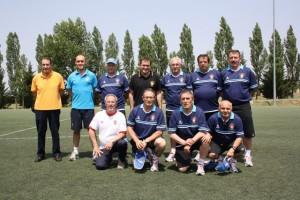 Manzano, con su equipo del banco de España