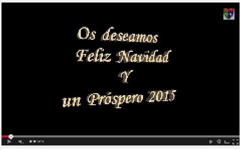 Vídeo elaborado por los jugadores y entrenadores del Alevín A para felicitar la fiestas