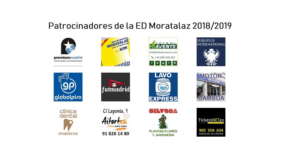 ¿Conoces a todos los patrocinadores de la ED Moratalaz?