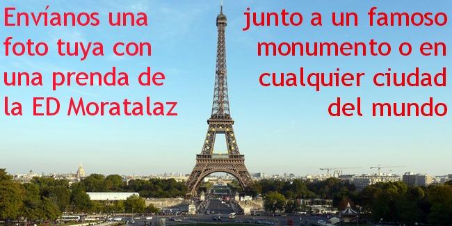 Envíanos tu foto con una prenda de la ED Moratalaz en tus vacaciones por cualquier parte del mundo