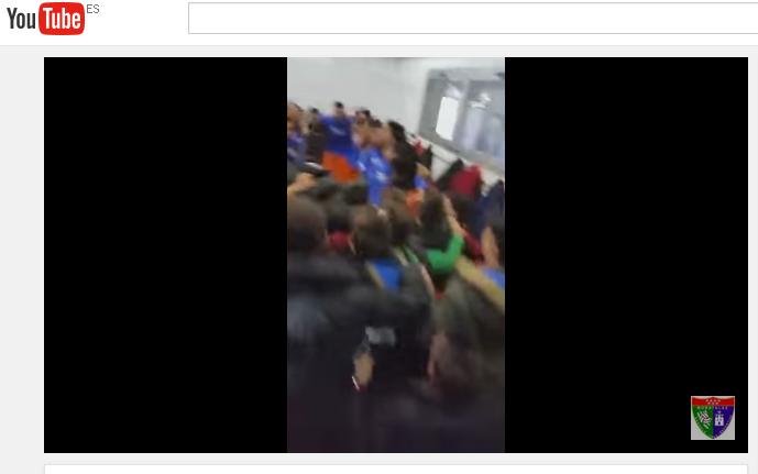 Vídeo de cómo el Primer Equipo recibió el apoyo de lo jugadores de la Escuela antes del partido con el Alcobendas