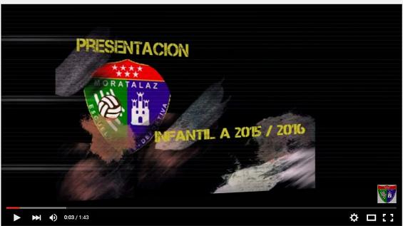 Vídeo presentación del Infantil A para la temporada 2015-2016