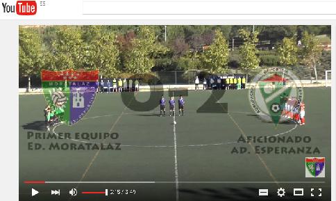 Videoreportaje del partido de liga que enfrentó al Aficionado A con el Esperanza A